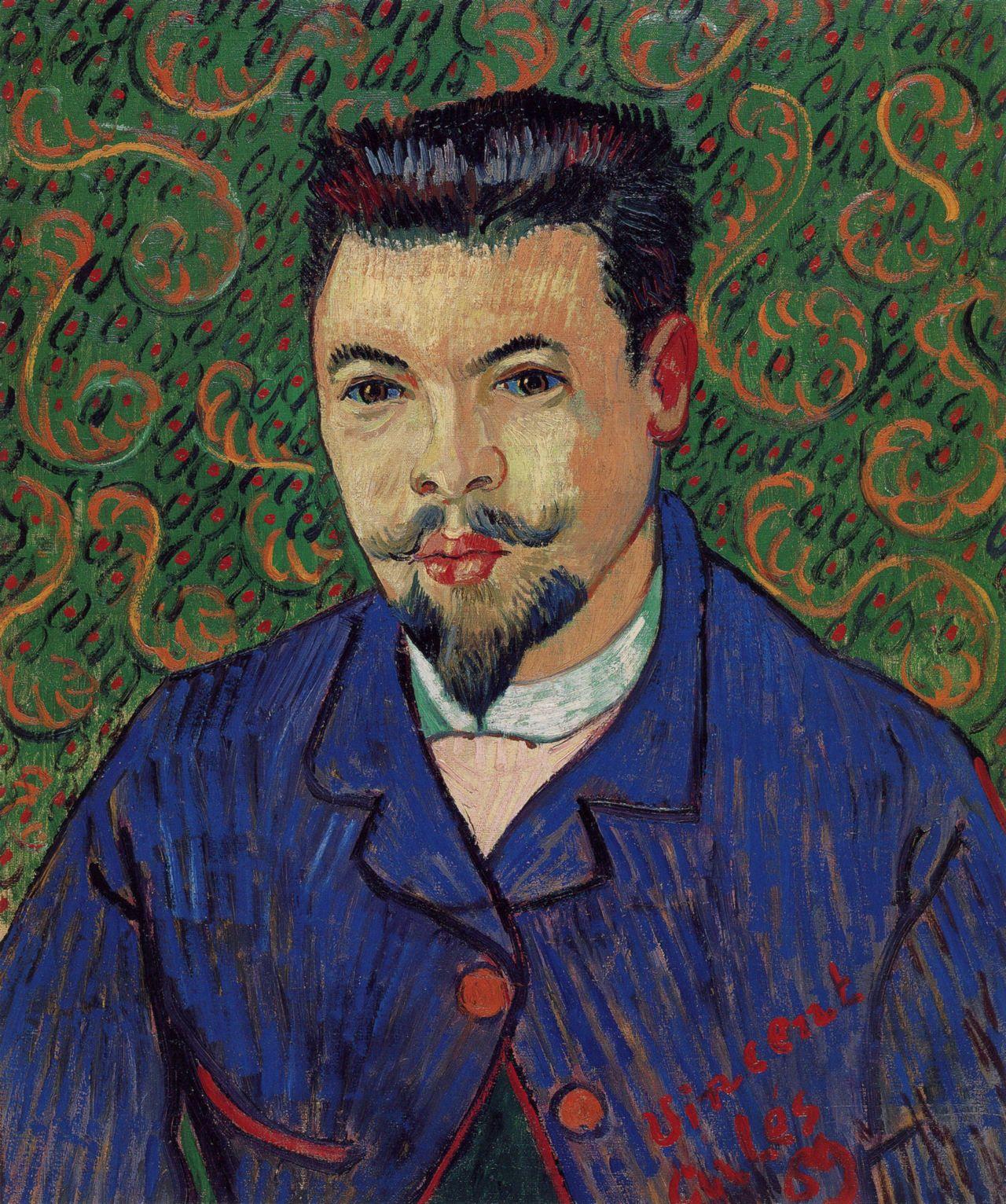 Vincent van Gogh: Portrait of Dr. Rey (1889)