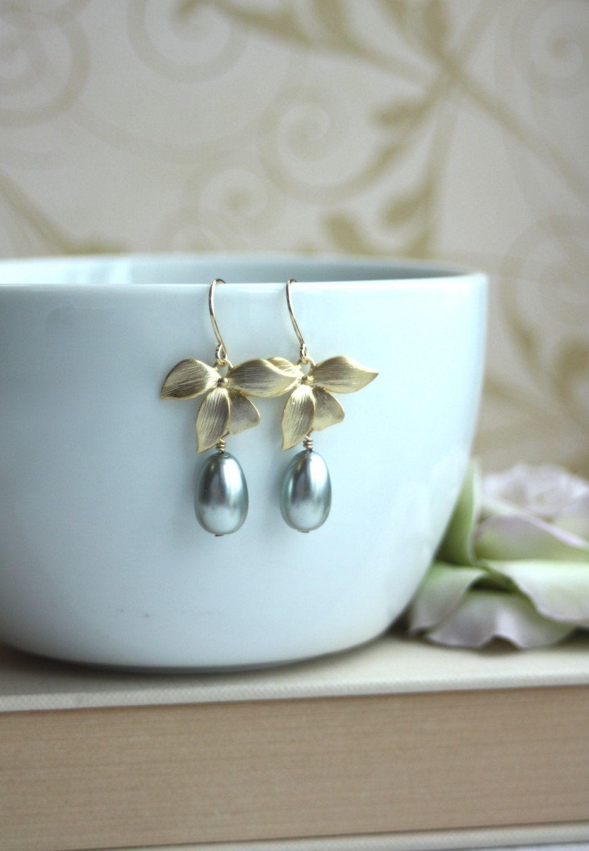Orquídeas Phalaenopsis pendientes. Cristal gris perla por Marolsha