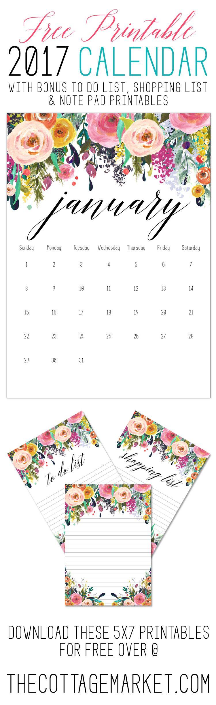 50+ 2017 FREE printable calendars   Printable calendars, Free ...