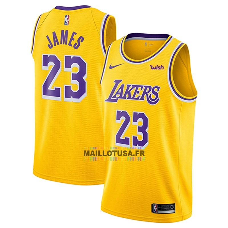 Maillot Nba Pas Cher Maillot Nba Nike Los Angeles Lakers No 23 Lebron James Jaune 2018 1 In 2020 Los Angeles Lakers Los Angeles Lakers Basketball Lebron James Lakers