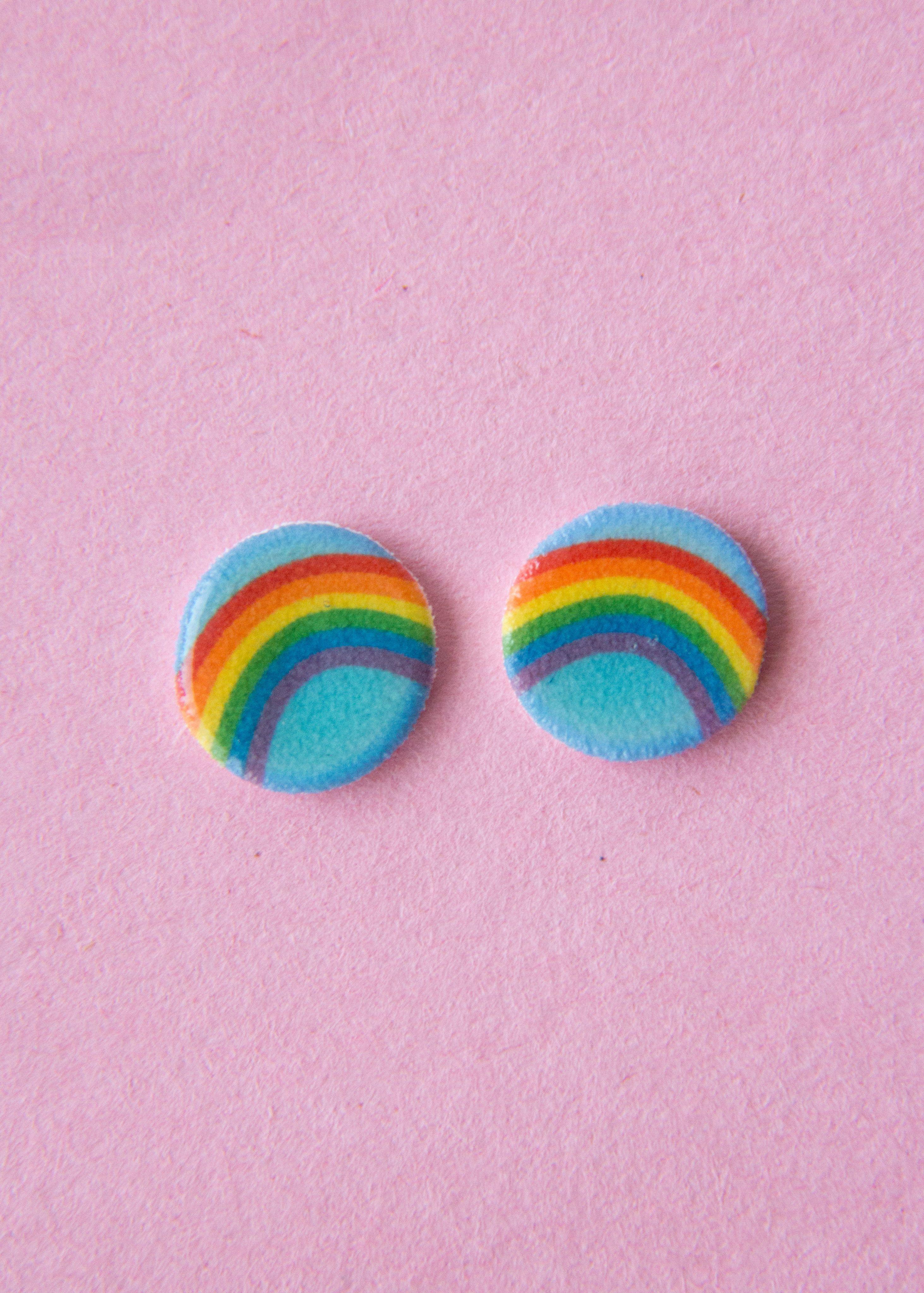 Rainbow Pride Stud Earrings