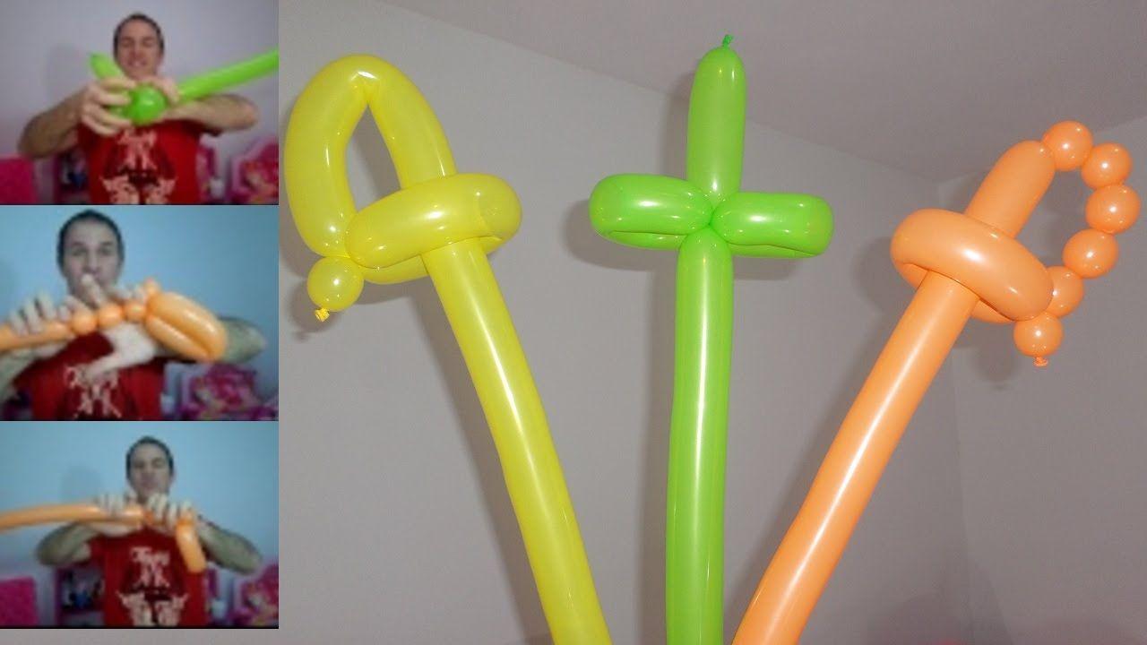 como hacer espadas con globos largos globoflexia espadas faciles