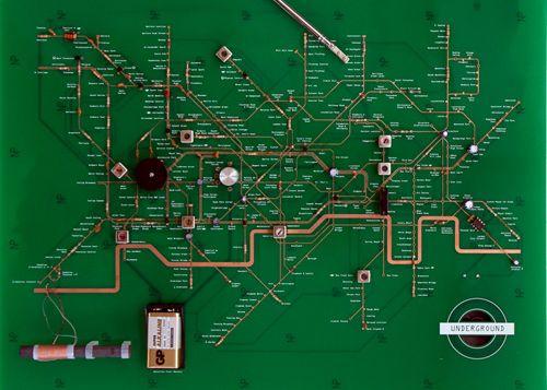 London Underground Circuit Map Radio | 地下鉄路線図, 地図, ロンドン