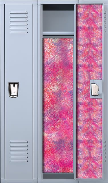 Snake Print Sherbert Locker Wallpaper Set Locker