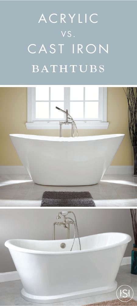 acrylic bathtubs vs. cast iron bathtubs | nancy and guy | pinterest