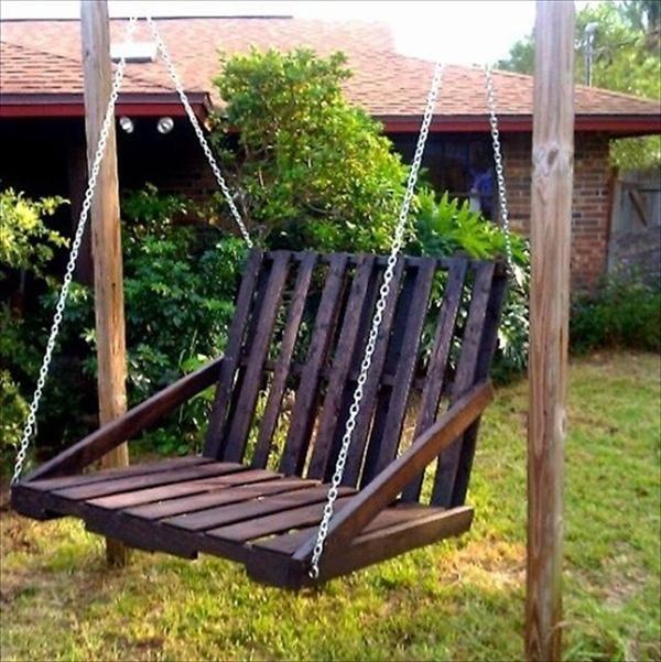 Pallet chair swing   DIY Frugal Pallet Swings   Pallet Furniture DIY. Pallet chair swing   DIY Frugal Pallet Swings   Pallet Furniture