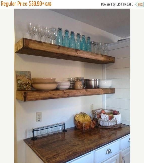 Wood Floating Shelves 40inches Deep Rustic Shelf Farmhouse Gorgeous Cheap Floating Shelves Sale