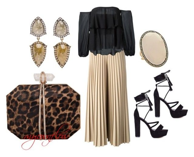"""""""NIGHT OUT"""" by myownflow ❤ liked on Polyvore featuring Givenchy, Dondup, Marchesa and Christina Debs"""