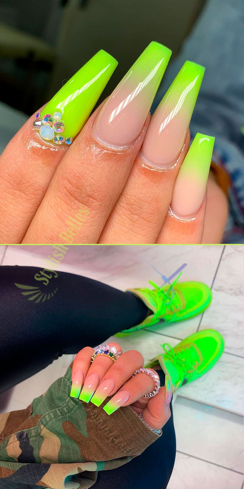 Awesome Ombre Yellow Nails Coffin Shaped For Summer 2019 Yellow Nails Coffin Shape Nails Wedding Nail Polish