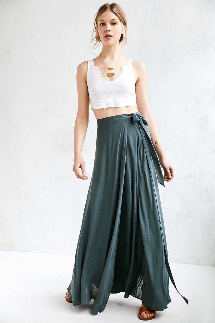 Ecote Zella Boho Wrap Maxi Skirt | Urban outfitters, Awesome stuff ...