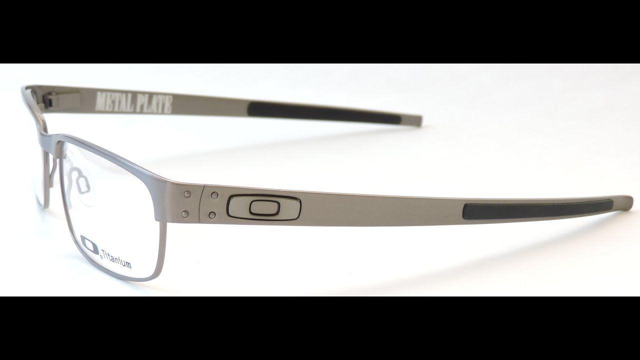 46a12dc4ac8b3 Oakley METAL PLATE OX5038 06 Eyeglasses Brushed Chrome