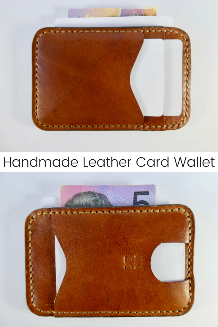 dca3a6ee6074 This beautifully handmade leather card wallet has 2 card slots on one side