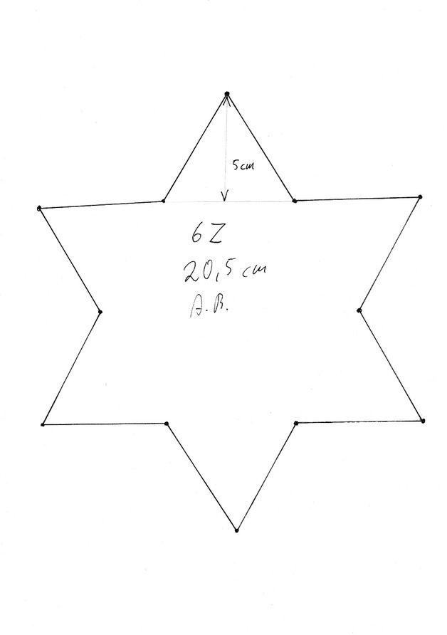 Vorlage Muster Stern mit 6 Zacken 389 Malvorlage Stern Ausmalbilder ...