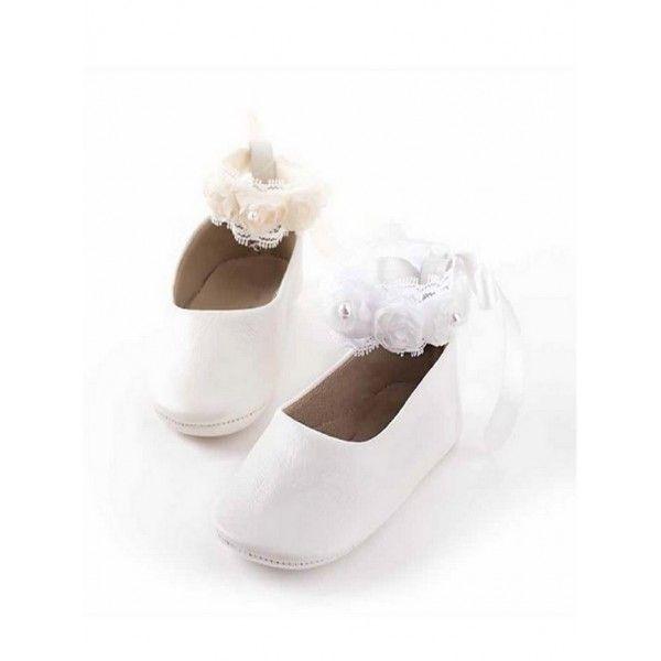 Βαπτιστικά παπούτσια αγκαλιάς κορίτσι BABYWALKER δερμάτινα σε λευκό ή  εκρού b8d7e06803e