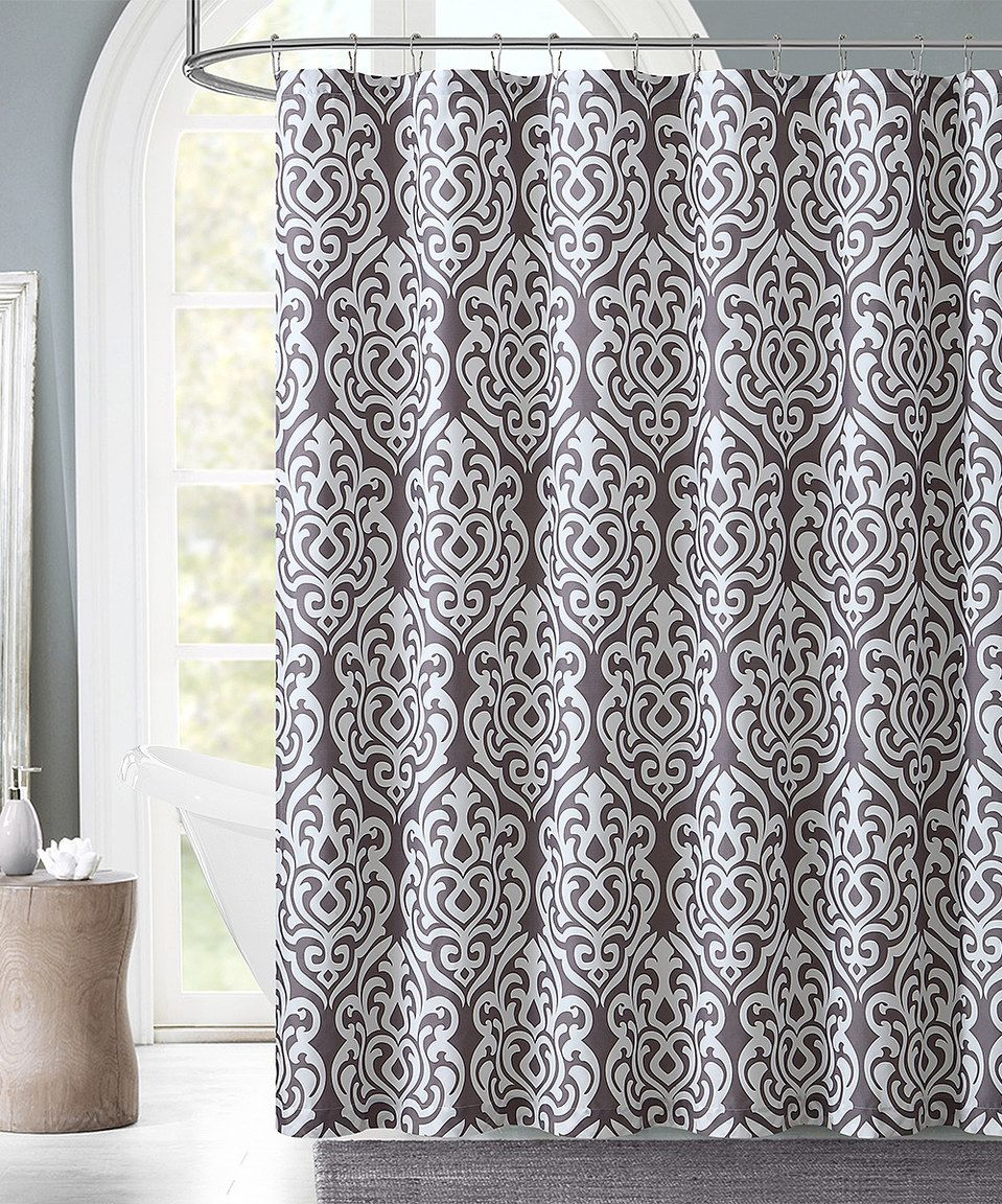 This Gray Cane Damask Shower Curtain By Victoria Classics Is Perfect Zulilyfinds
