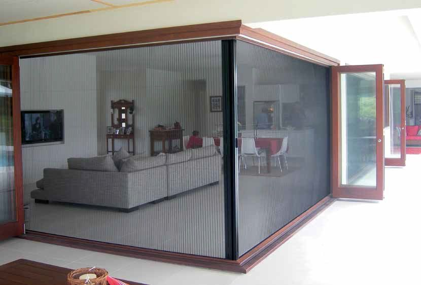 The door shop townsville retractable flyscreens for Accordion retractable screen doors