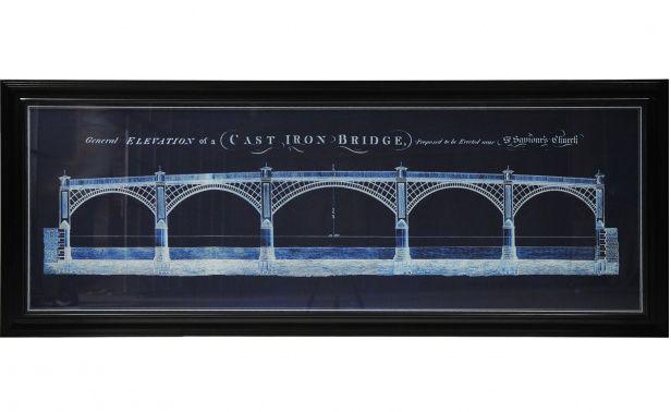 Coco republic timothy oulton art line iron bridge blueprint coco republic timothy oulton art line iron bridge blueprint malvernweather Image collections
