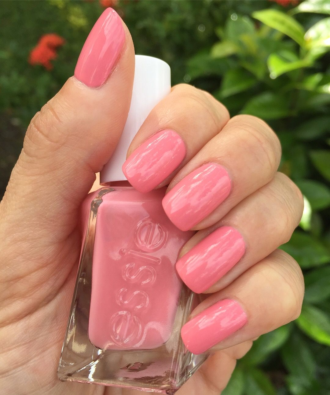 Essie Gel Couture - Last Night\'s Look - salmon pink nails   Nails ...