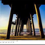 Coordinates from an ocean view in Ocean City, NJ  #OceanCity #JerseyShore #OCNJ #travel #photography
