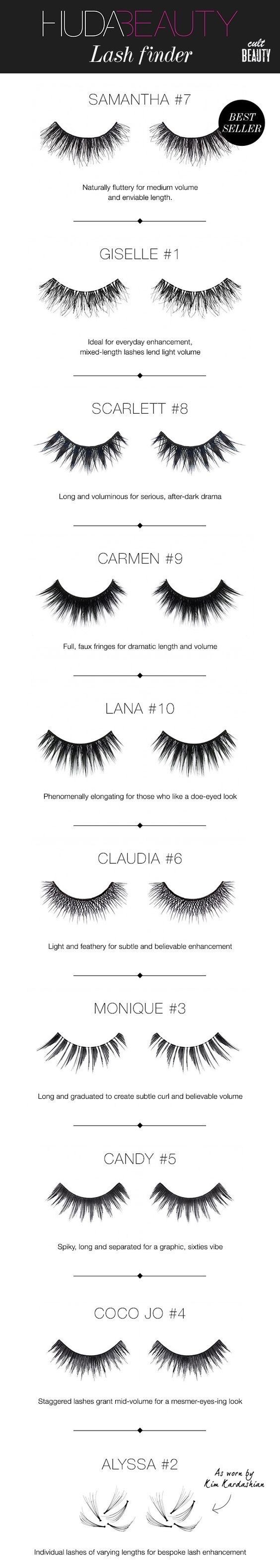 fa4bbc020f4 Huda Beauty Lashes to add to your makeup kit or collection. Perfect for  dramatic or natural looks / night out.