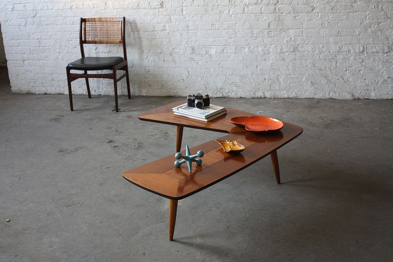 Atomic Mid Century Modern Lane Boomerang Coffee Table U S A 1950