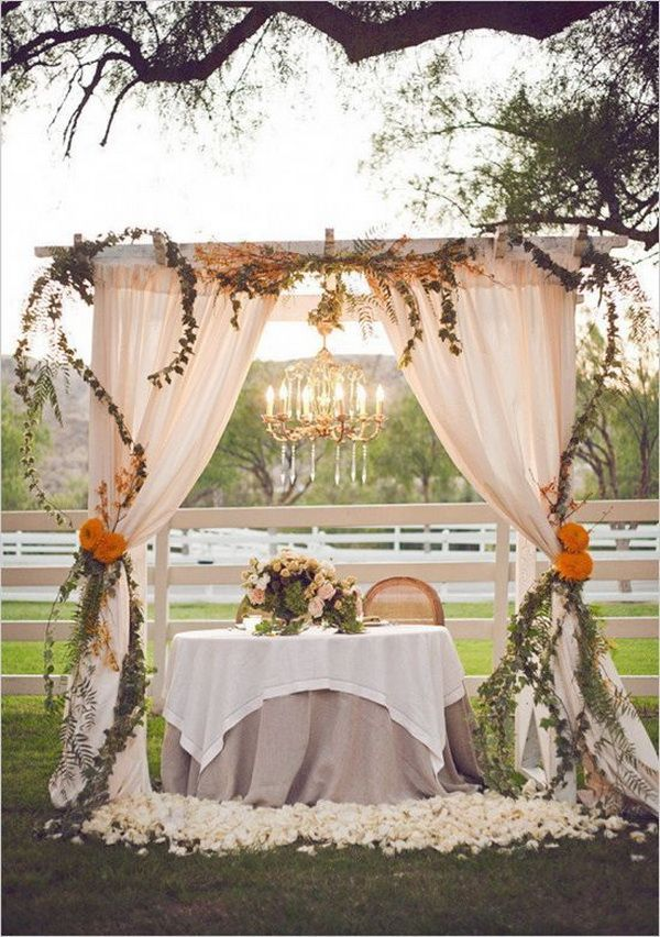 decorating ideas for outside wedding ceremony%0A Vintage Rustic Wedding Ideas