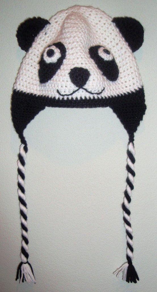 Crocheted Adult Panda Hat | Gorros y Tejido