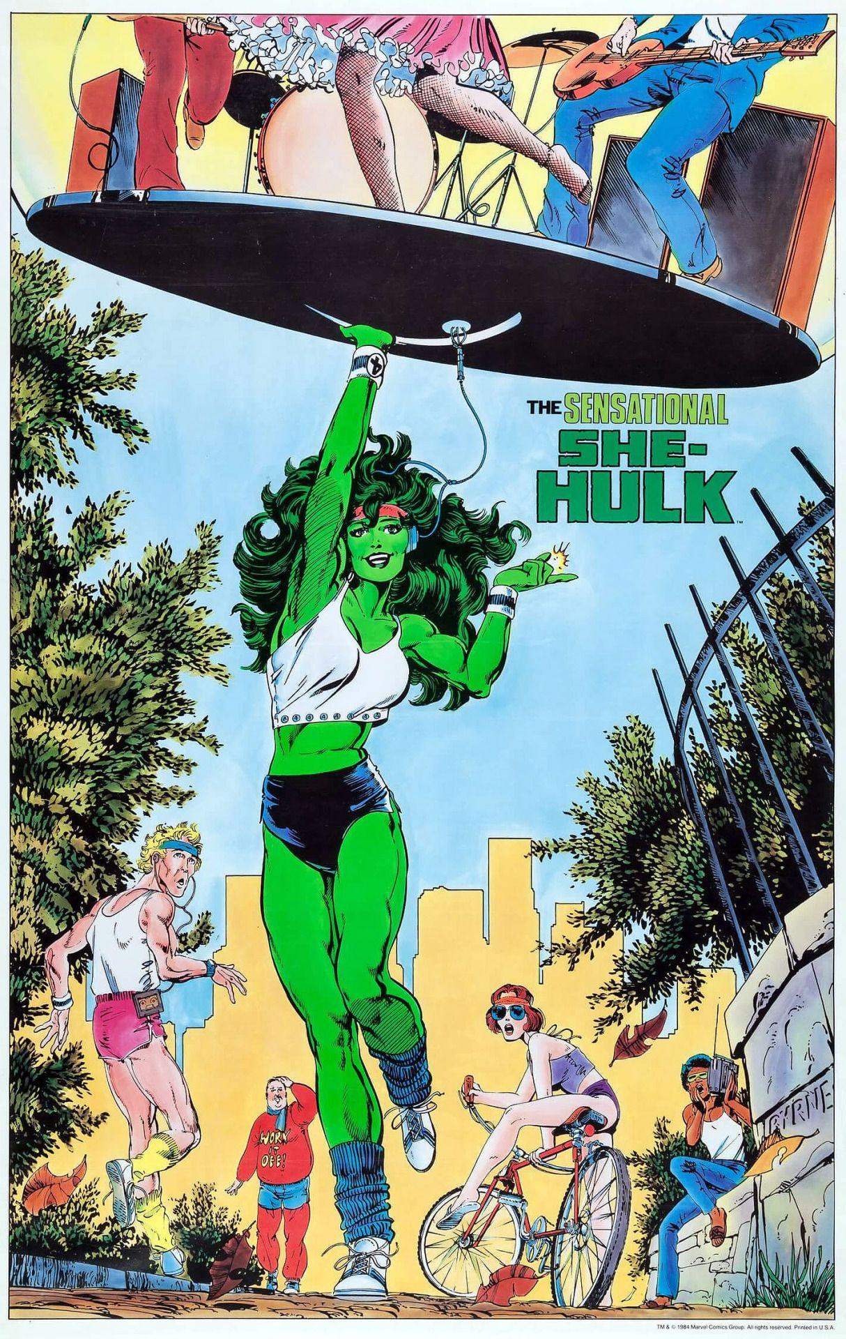 The Sensational She-Hulk poster by John Byrne, 1984. | Jennifer ...