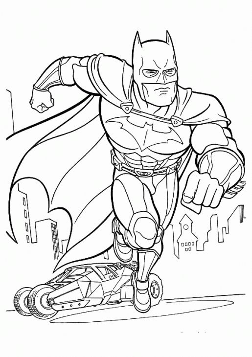 Online Batman Coloring Page Free To Print