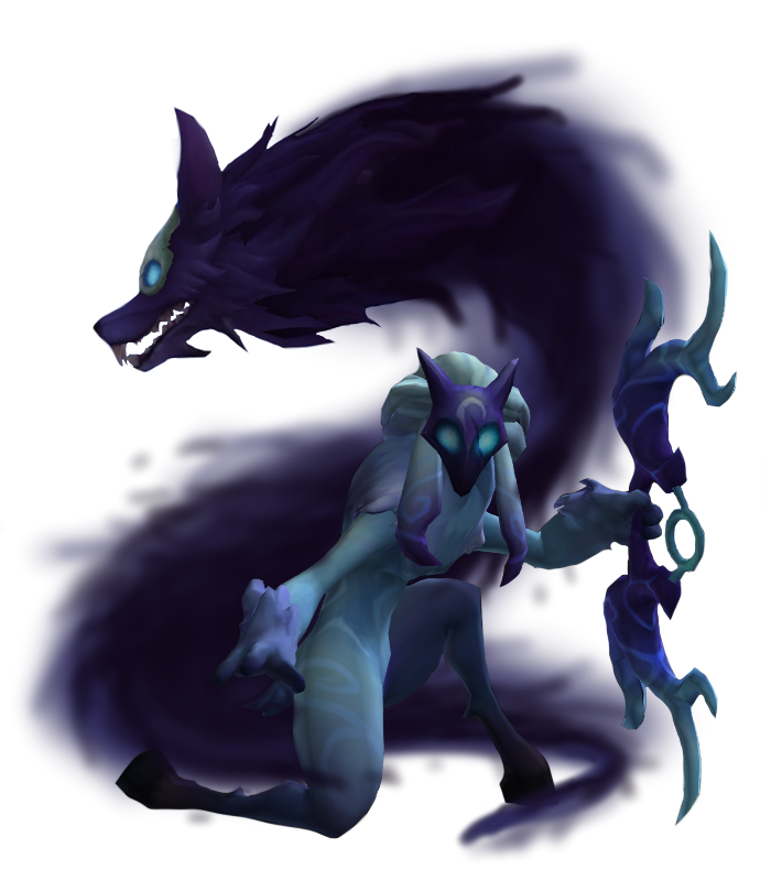 Kindred/Background Lambs, wolves, League of legends, Art