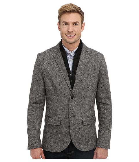 Kenneth Cole Sportswear Slim Bib Blazer Carbon Combo - 6pm.com