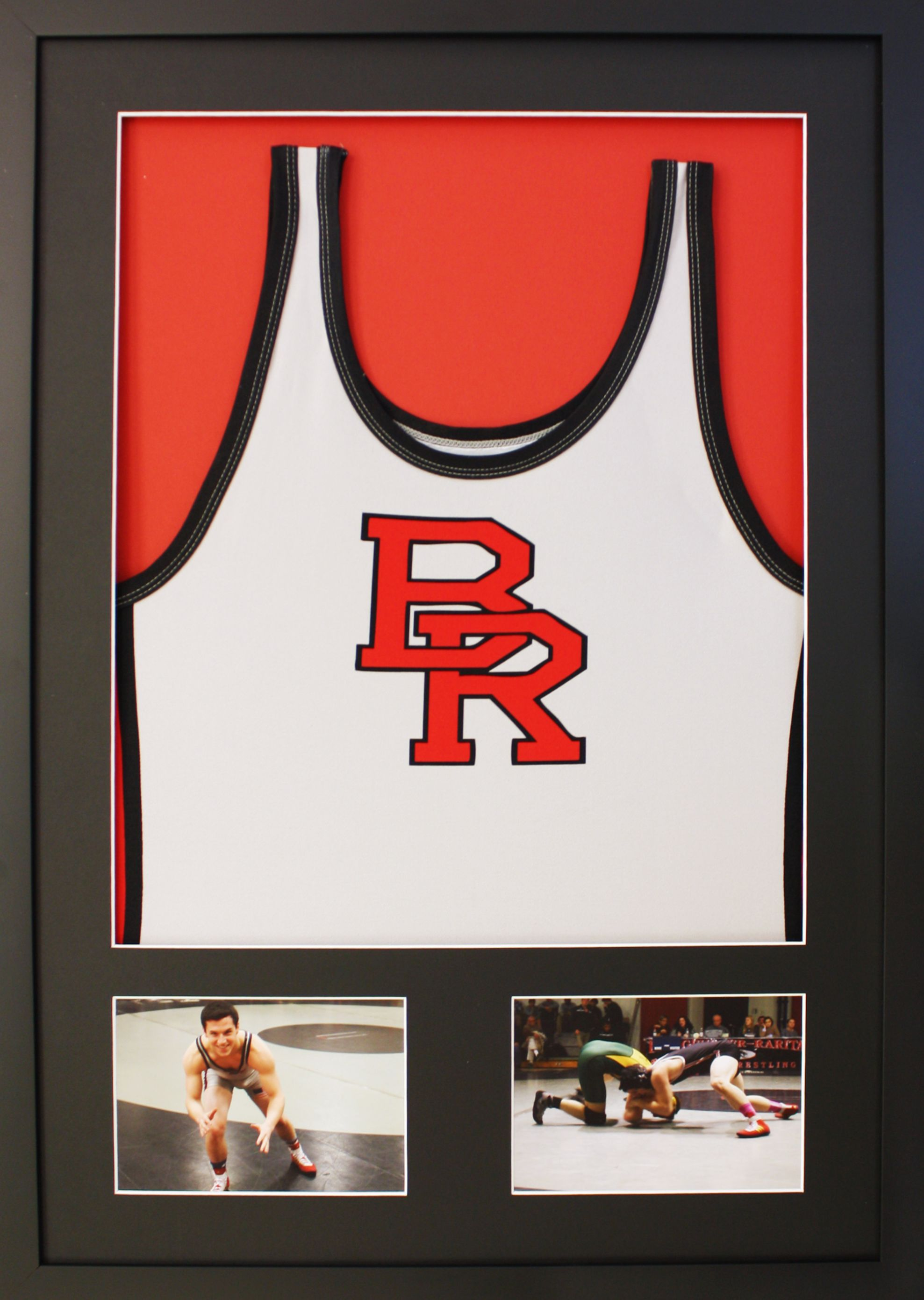 Commemorative Bridgewater Raritan Highschool Wrestling jersey paired ...
