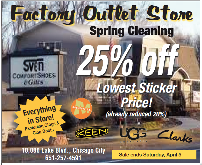 455c01ca272 Sven Factory Outlet Sale: 25% Off Everything in Store. Excludes all ...