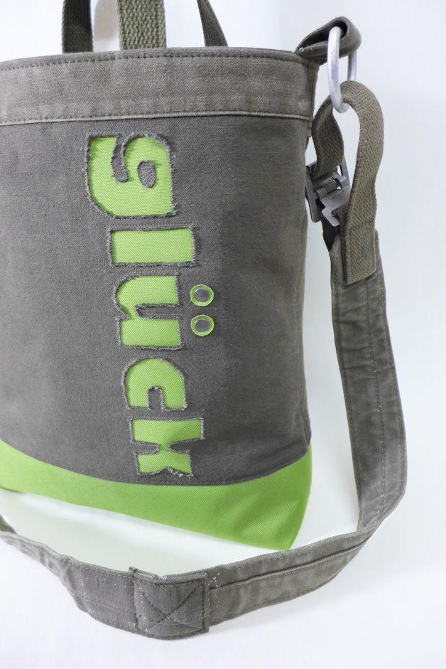 Canvastaschen - Seesack, Upcycling, Glück, Canvastasche, Plane - ein Designerstück von edda-be bei DaWanda