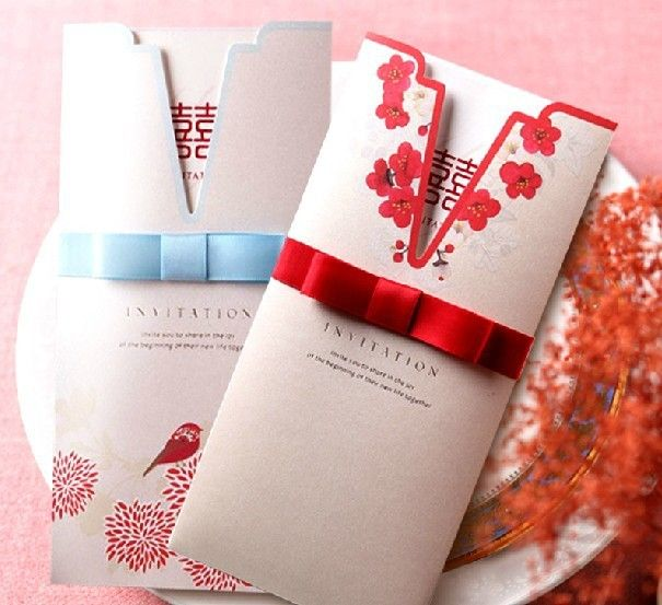 Directly From China Invitation Cards Birthday Suppliers New Freeshipping Customized Chinese Style Creative Continental Upscale Wedding Invitations Card