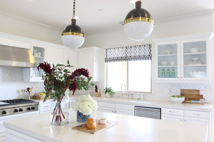 Frosty Carrina Counters, Transitional, kitchen, Benjamin Moore White ...