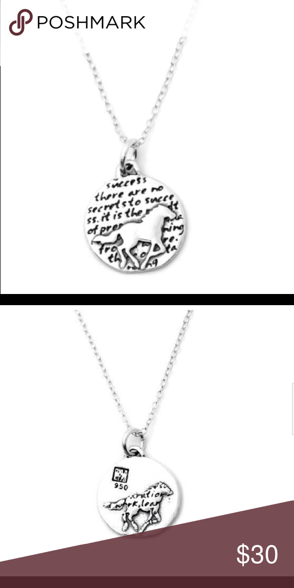 0611b4516 Sterling Silver · Handmade · Kevin N Anna- HORSE NECKLACE (SUCCESS) This  round, reversible pendant features a