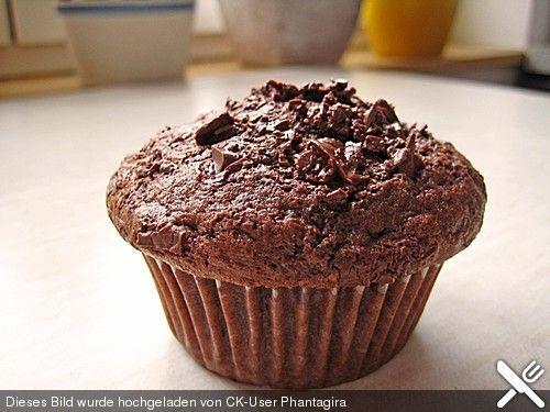 Schnelle Schokomuffins Hab 100g Zucker und 180g dunkle Schokolade genommen