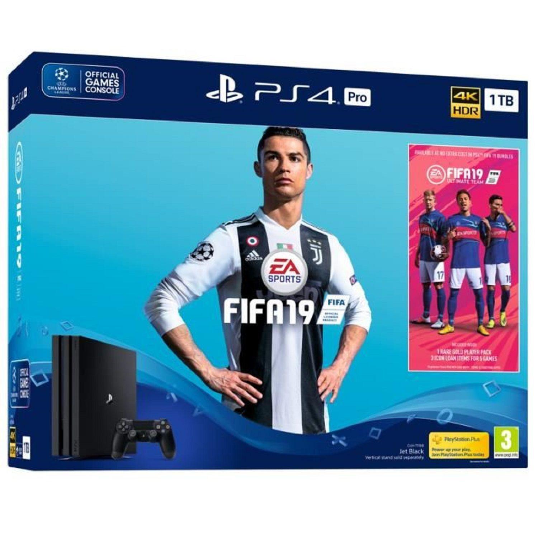 Console Ps4 Pro Fifa 19 Sony La Console Avec Une Manettte Et Le Jeu Fifa 19 A Prix Carrefour Avec Carrefour Console Fifa Jeu M Fifa Playstation Console