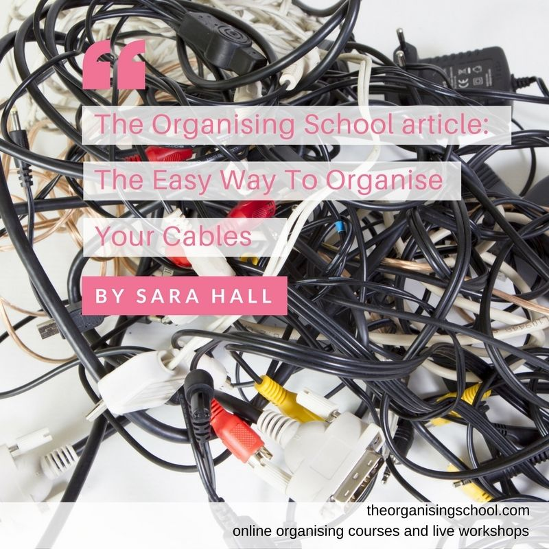 The Easy Way To Organise Your Cables - The Organising School