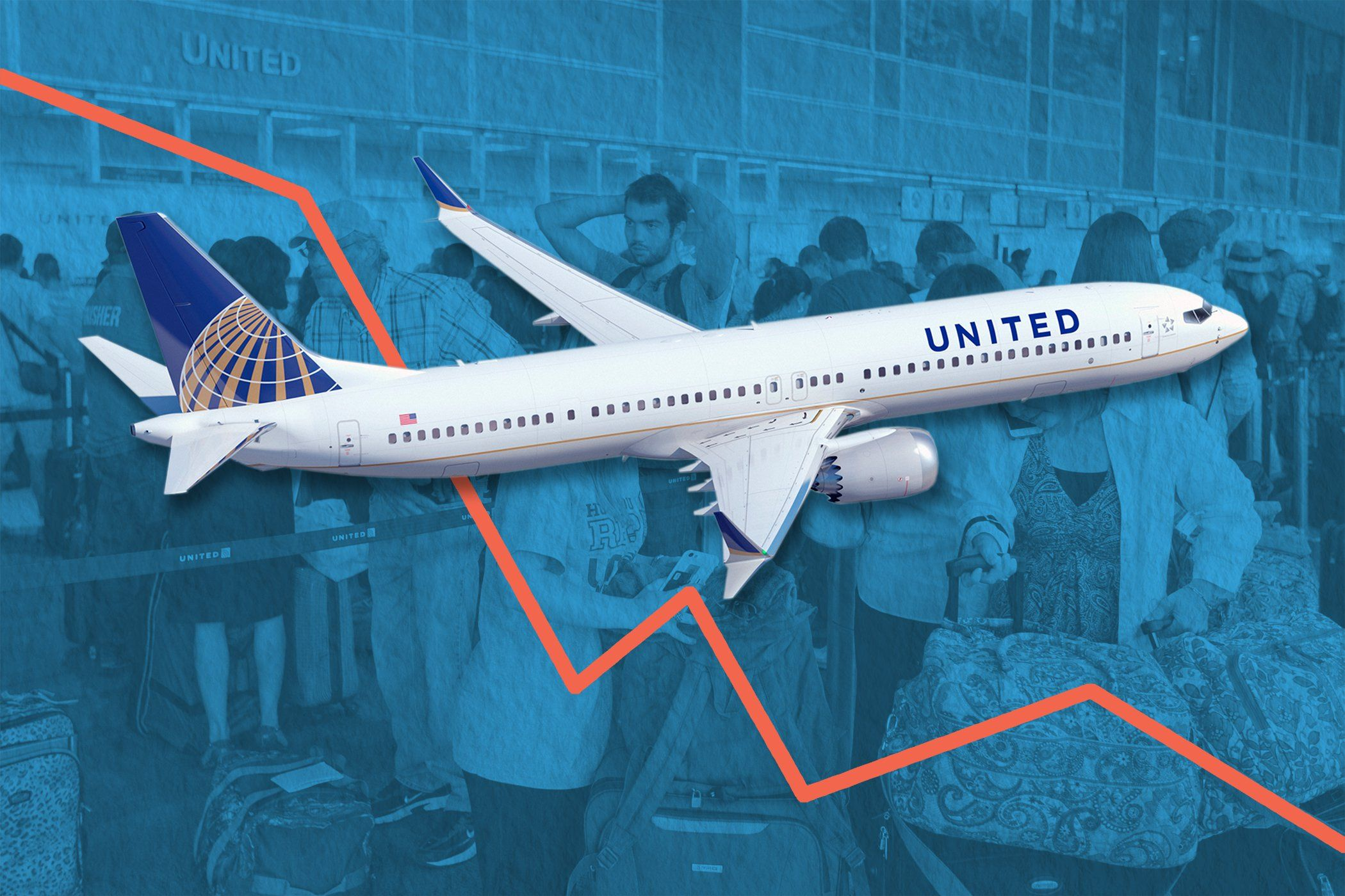 Heres how much united airlines stock tanked this week