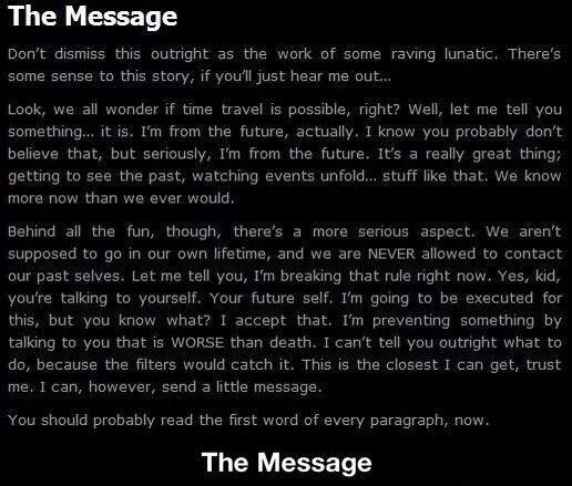 Message In A Story
