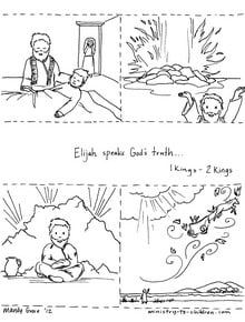 Click here to download the Story of Elijah coloring sheet