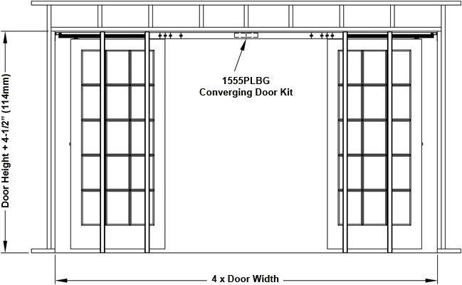 Johnson Hardware 2511 Series Pocket Door Frame Pocket Doors