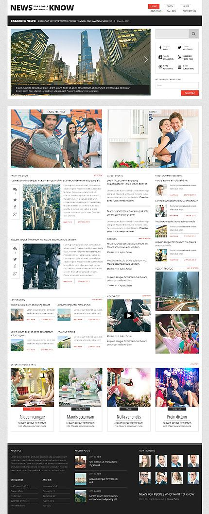 Template 47781 - News Portal Responsive Wordpress Theme