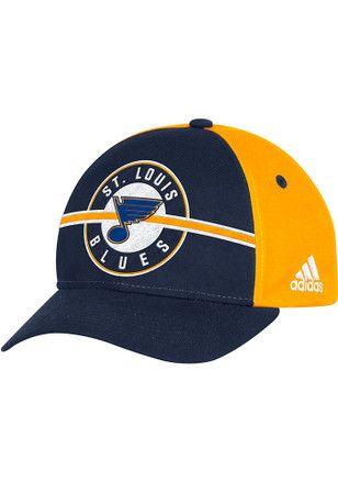 huge discount 5fe57 e955c Adidas St Louis Blues Mens Navy Blue Circle Hook Adjustable Hat