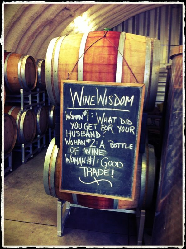 'Wine Wisdom' from along the Westside Wine Trail at Rollingdale Winery in West Kelowna, BC