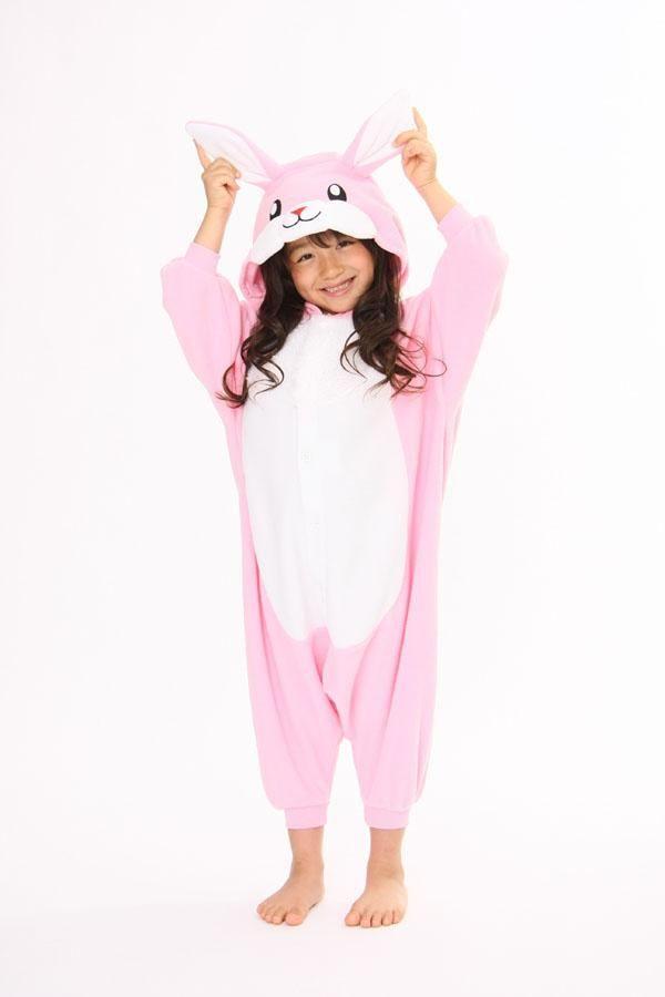 1b9ac7550 Kids Pink Rabbit Bunny Onesie Kigurumi Pajamas