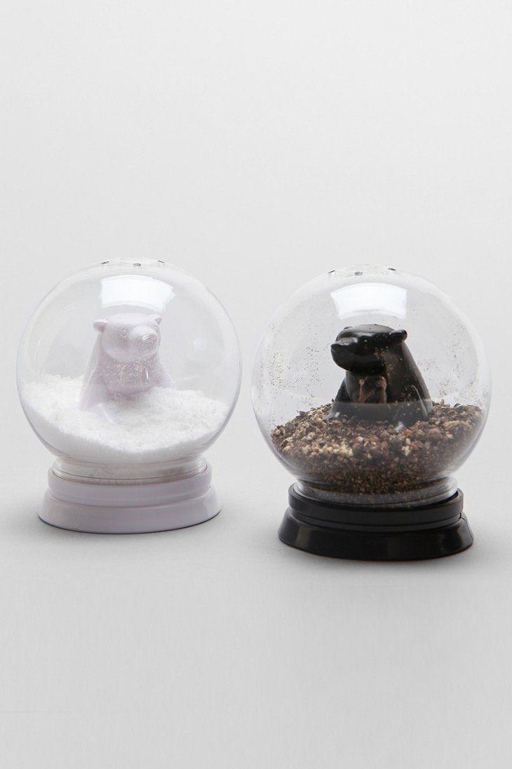 Snow Globe Bears Salt Pepper Shaker Set Urban Outfitters La