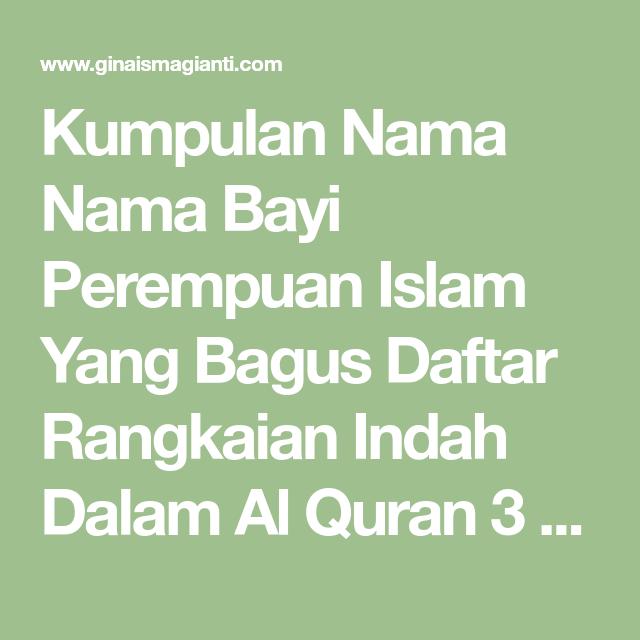 Kumpulan Nama Nama Bayi Perempuan Islam Yang Bagus Daftar